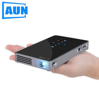AUN Android 7.1 DLP proyector D5S, WIFI intégré, mini projecteur Bluetooth (projecteur portable optionnel D5) Home Cinema