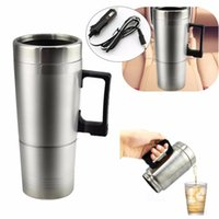 12V Car Heating Stainless Steel Cup Water Bottle Water Coffe...