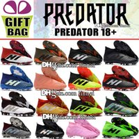 New 2018 Mens High Ankle Football Boots Predator 18 FG Lacel...