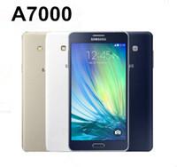 원래 삼성 갤럭시 A7 A7000 듀얼 SIM 잠금 해제 Octa Core 2GB / 16GB 5.5 인치 13MP 4G LTE 재조정 된 전화