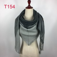 2018 Kvinnor Plaid Scarves Grid Tassel Oversized Check Shawl Tartan Cashmere Triangle Scarf Vinter Neckerchief Gitter Wraps