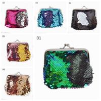 Mermaid Paillette Coin Pocket Fashion Donna Ragazze Glitter Borsa Mini Black Clutch Buckle Bolsa Portafogli Borsa