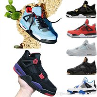 00ba58cc7ada19 all ingrosso 4s HOUSTON Cactus Jack Raptors scarpe da basket 4s Pure Money  Royalty Black