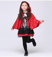 Traje de Halloween crianças fantasias de manto meninas vermelho diabinho cosplay mostrar atacado roupas infantis traje de desempenho
