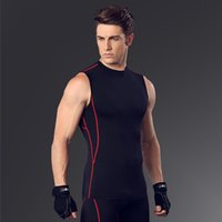Men ' S Body Slimming Compression Sleeveless Tight T Shi...