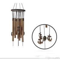 Rétro En Métal Vent Carillon Navire Ancre Forme Windbell Pour La Maison Tenture Pendentif Décoration Fournitures Cadeau D'anniversaire 8 8bz ZZ