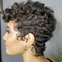Short Black Afro Curly Wigs For Black Women Synthetic Short ...