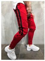 Мужской тренажерный зал Slim Fit брюки спортивный костюм днища тощий бегунов пот трек брюки Великобритания