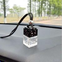 Botellas colgante del coche del difusor infusor Ambientador para el coche Decoración perfume del aceite esencial de la botella vacía cuerda de la caída del envío de DHL 5ml