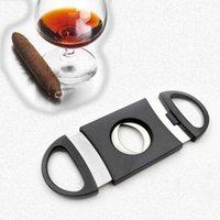 Cuchillas de cigarro con cuchillas dobles Cuchillas de acero inoxidable con tijeras Cigars plateados