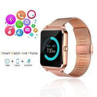 Bluetooth Smart Watch telefono Z60 supporto in acciaio inox SIM Card TF Fitness Tracker GT08 GT09 DZ09 A1 V8 Smartwatch per IOS Android