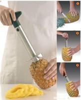 50pcs / lot NOUVEAU Fruit Ananas Corer Trancheuse Peeler Cutter Parer Couteau En Acier Inoxydable Cuisine Outils Outils # 2524
