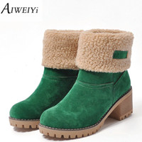 AIWEIYi Brand Women Boots Female Winter Shoes Woman Fur Warm...