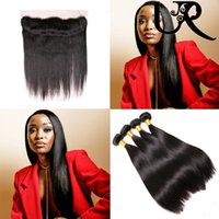 URVENUS Malaysian Straight Hair Bundles with Frontal Closure...