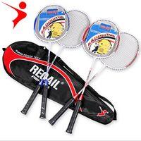 Requail Hafif Badminton Raket Taşıma Çantası ile 2 adet Alüminyum Alaşım Eğitim Badminton Raket Spor Ekipmanları Dayanıklı