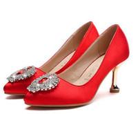 Ücretsiz göndermek 2018 gelin kırmızı topuklu kadın düğün ayakkabı yeni stil ayakkabı topuk 5 cm, 7 cm