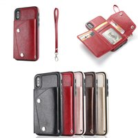 PU Leather Case For iPhone X 6 6s 7 8 Plus Multi Card Holder...