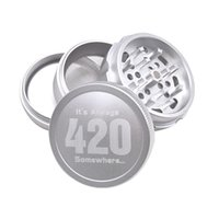 Newest 420 Aircraft Aluminum Metal Herb Grinder 63mm 4 Layer...