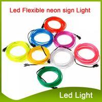 3 M LED Şerit Esnek Neon Burcu Işık Glow El Tel Halat Tüp Neon Işık 8 Renkler Araba Dans Partisi Kostüm + Denetleyici Noel Işıkları