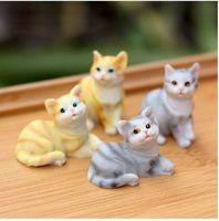 لطيف القط الحيوان مصغرة الجنية حديقة المنزل المنازل الديكور البسيطة كرافت ديكور الحدائق الصغيرة الاكسسوارات ديي