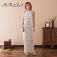 Elegant Girls Dress Halter A Line Lace Party Formal Evening ...