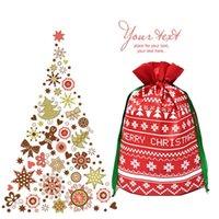 هدية عيد الميلاد حقيبة الرنة ندفة الثلج حقيبة تخزين القطن الرباط حزمة أكياس عيد الميلاد حلوى الشاي حزمة هدية التفاف زينة عيد الميلاد