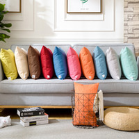 Solid Modern Linen Sofa Bed Cushion Cover Throw Pillow Case ...