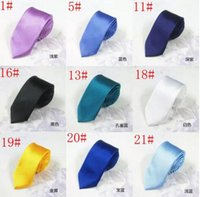 24 couleurs 5 cm casual étroit flèche cravates pour hommes mode maigre cravate cravates au cou bonbons couleur mince cravates hommes