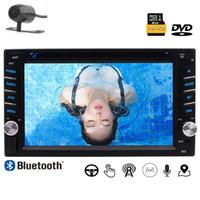 Coche Din doble en el tablero GPS Nav 6.2 '' 1080P Bluetooth coche DVD USB SD Control del volante Botón colorido Luces Cámara de respaldo gratis