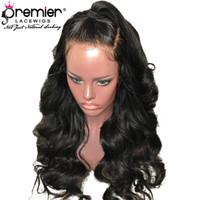 Premier Glueless Lace Front Wigs Perruque Remy Brésilien de Cheveux Humains Pré-Arraché Cheveux Naturels Corps Vague 130% Densité Dentelle Perruque Pour Américain
