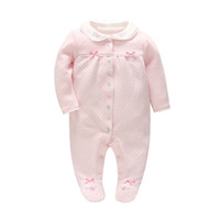 INS baby girl clothing romper pet pan collar long sleeve wit...