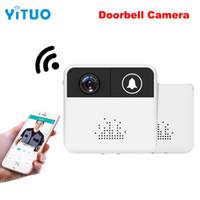 나이트 비전 링 벨 무선 와이파이 비디오 인터폰 초인종 야외 비디오 모니터 720 마력 IP 카메라 양방향 오디오 뷰어 들여다 보는 구멍 YITUO