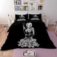 New 3D Bedding Set 3pcs Marilyn Monroe Duvet Cover Oil Patte...