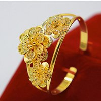 3 Flower Patterned Cuff Bangle Beautiful Wedding Party Jewel...