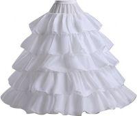 2018 المتدرج الدانتيل الكرة ثوب كرينولين تنورات زائد الحجم حجم الحرة حجم الزفاف هوب تنورة اكسسوارات الزفاف