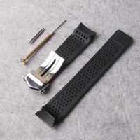 جديد حزام watchband 22mm الفولاذ المقاوم للصدأ نشر الغوص الأسود سيليكون المطاط الثقوب حزام حزام لاستبدال العتاد S3