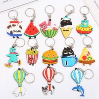 New lovely PVC soft glue key chain cartoon watermelon animal...
