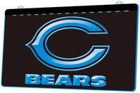LS841- b- Chicago- Bears- Super- Bowl- Bar- Neon- Light- Sign Decor F...