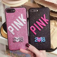 2018 New Design PINK Fashion Glitter 3D Embroidery Love Pink...