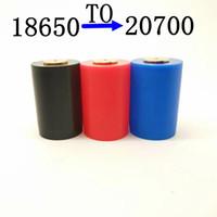 최신 Pom 18650 배터리 - 20700 변환 셸 컨버터 커버 케이스 휴대용 맞춤형 Vape Mods 다중 용도 고품질