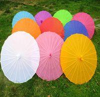 100pcs / lot Livraison gratuite petit grand chinois coloré parapluie Chine danse traditionnelle couleur parasol accessoires en soie japonaise SN447