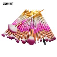 20PCS Eye Makeup Brushes Set Professional Eyeshadow Eeybrow ...
