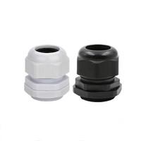 1PCS كابل الغدد SYYEP PG36 أسود أبيض مقاوم للماء قابل للتعديل موصلات النايلون الموصلات مع حشوات 22-32mm للأجهزة الكهربائية