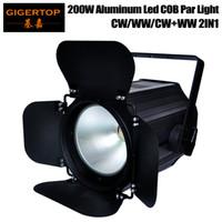 Tiptop sahne ışık tp-p67 200 w beyaz koçanı led par ışık tyanshine orijinal ambar kapısı döndür 35 derece yansıtacak fincan güç in / out konektörü