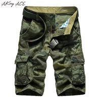 2017 Aking Ace Askeri Ordu Kamuflaj Şort Erkekler Militar Camo Kısa Pantolon Erkekler Için Kargo Şort Erkek Artı Boyutu 29 -42 44, Za292