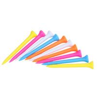 100шт / компл. смешанный цвет легкий портативный для переноски пластика 69 мм Гольф тис Гольф учебные пособия основные аксессуар для гольфиста