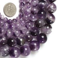 8mm Traum Spitze Farbe Amethysten Perlen Naturstein DIY lösen Korne für Schmucksachen, die 15 Zoll Großhandel