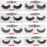 100% handmade Mink 3D HAIR false eyelash 3D mink thick fake ...