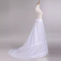 هوب الزفاف التنورة الداخلية قماش قطني التنانير مرونة الخصر زلات ل أثواب الزفاف قطار طويل اكسسوارات الزفاف