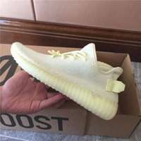 Mens Shoes Butter Sesame 350 V2 Sneakers Blue Tint Womens De...